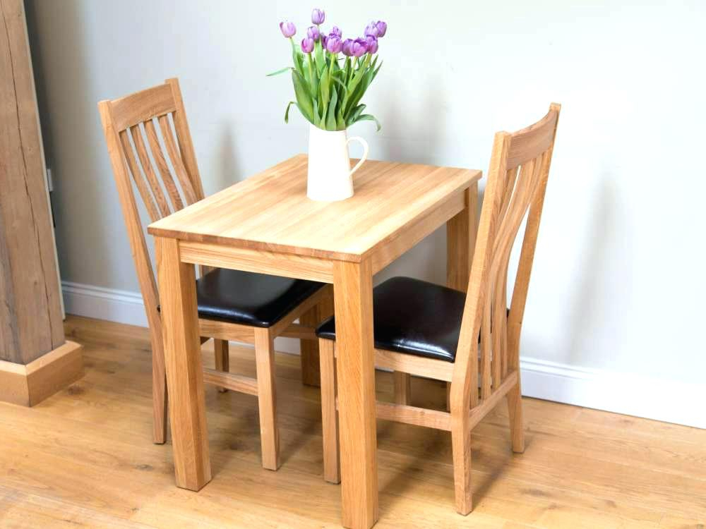 Dining Table Sets For 2 Regarding Well Liked 2 Chair Dining Set Compact Small 2 Chair Dining Set (Gallery 13 of 20)