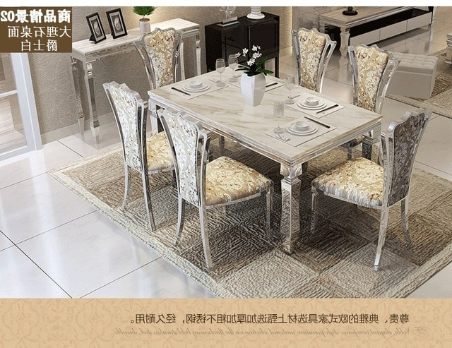 Dining Table Sets Marble Dining Table 4 Chairs Modern Stylish Dining Intended For Most Current Marble Dining Tables Sets (View 9 of 20)
