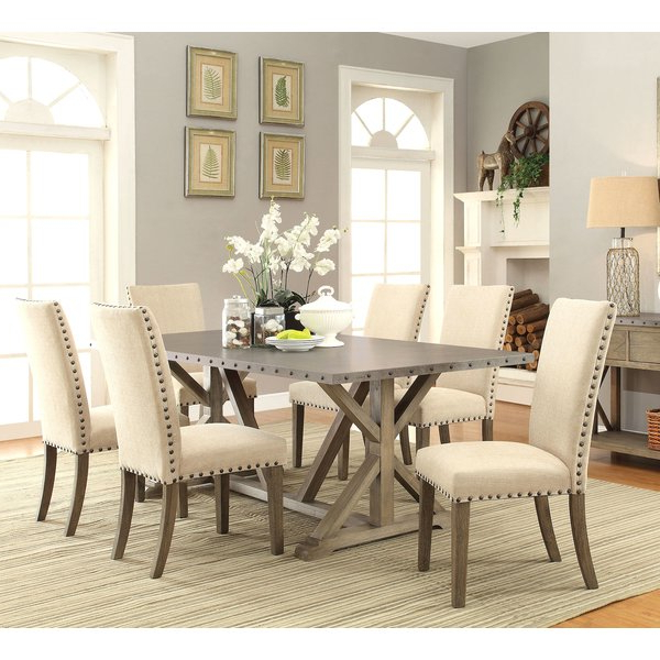 Dining Table Sets Pertaining To Best And Newest Athens 7 Piece Dining Set & Reviews (View 7 of 20)