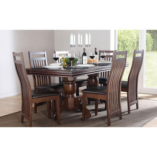 Dining Table Sets Throughout Recent Wooden Dining Table Set, Dining Table Set – Surplus House, Jaipur (View 9 of 20)