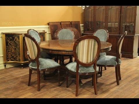 Dining Table Sets With 6 Chairs In Well Liked Round Dining Table Set For 6 – Youtube (View 4 of 20)