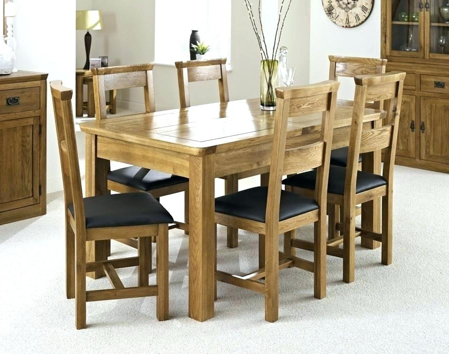 Dining Table With Six Chairs Incredible Nice Dining Room Chairs Set Inside Newest Dining Tables For Six (View 11 of 20)