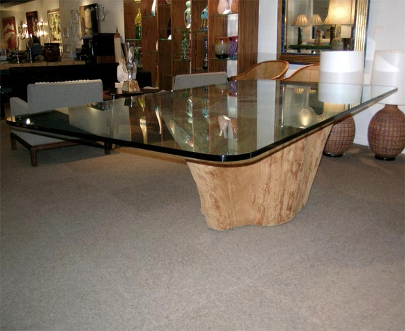 Dining Table With Tree Trunk Basemichael Taylor At 1stdibs Intended For Most Up To Date Tree Dining Tables (View 6 of 20)