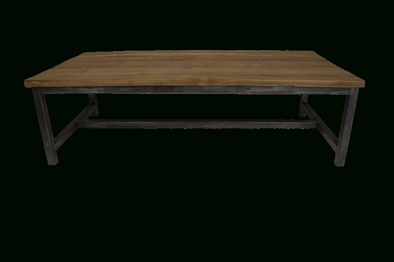 Dining Tables 120x60 Throughout Current Coffee Table – 120x60 Cm – Reclaimed Teak/metal – Coffee Tables (View 10 of 20)