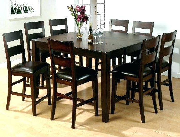 Dining Tables 8 Chairs Set Regarding Best And Newest 8 Chair Dining Table Sets Tall Kitchen And Chairs With High (View 15 of 20)