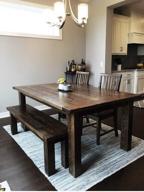 Dining Tables And 2 Benches Inside Well Known Farmhouse Dining Tables And Benches (View 7 of 20)