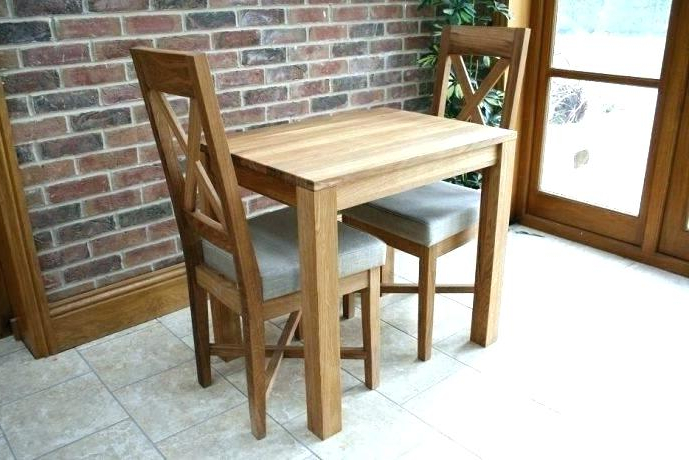 Dining Tables And 2 Chairs Regarding Most Recently Released Small Square Dining Table And 2 Chairs Glass 4 Tiny Cozy Furniture (View 11 of 20)