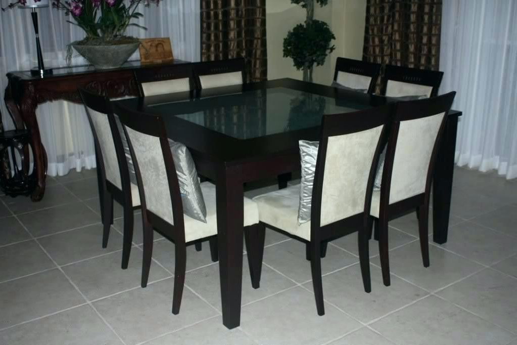 Dining Tables And 8 Chairs For Sale Intended For Widely Used Dining Tables With 8 Chairs Square Table Amusing Chair Person Room (View 6 of 20)