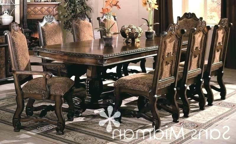 Dining Tables And 8 Chairs Sets With Regard To Newest Dining Room Sets For 8 Round Dining Table Sets For 8 Leather Dining (View 9 of 20)