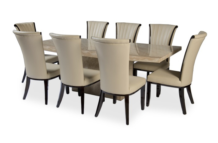 Dining Tables And 8 Chairs Sets With Well Liked  (View 16 of 20)