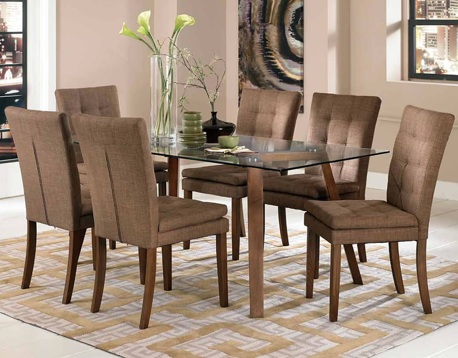 Dining Tables And Fabric Chairs In Trendy Fabric Dining Room Chairs Sets – Simple Minimalist Home Ideas • (Gallery 9 of 20)
