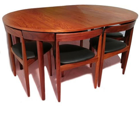 Dining Tables And Six Chairs For Most Popular Extendable Dining Table With Six Chairshans Olsen For Frem Rojle (View 4 of 20)