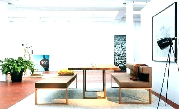 Dining Tables Bench Seat With Back Within Fashionable Dining Room Table With Bench Seat – Chaletservice (View 12 of 20)