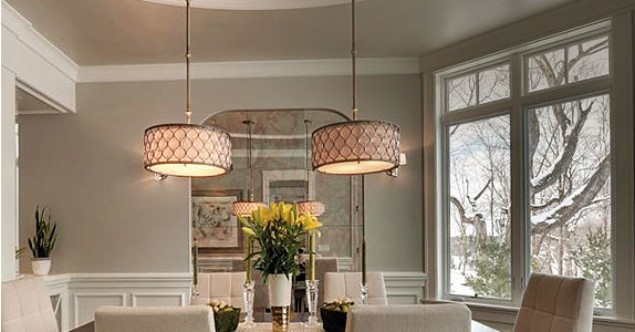 Dining Tables Ceiling Lights For Latest Dining Room Lighting Fixtures & Ideas At The Home Depot (View 18 of 20)