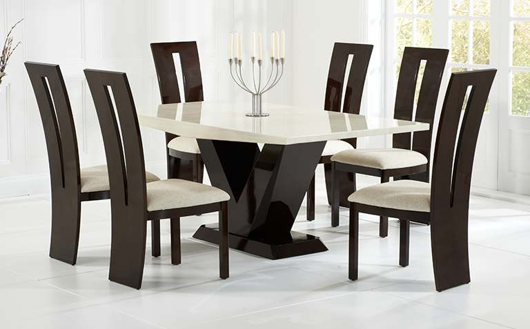 Dining Tables Chairs Inside Well Known Dining Table Sets (View 4 of 20)