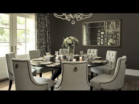 Dining Tables For 8 Throughout Famous Round Dining Table Set For 8 – Youtube (View 7 of 20)