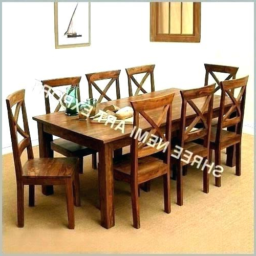 Dining Tables For 8 With Regard To Recent Dining Tables 8 Square Table For Unique Person Farmhouse Un – Heyapp (View 9 of 20)