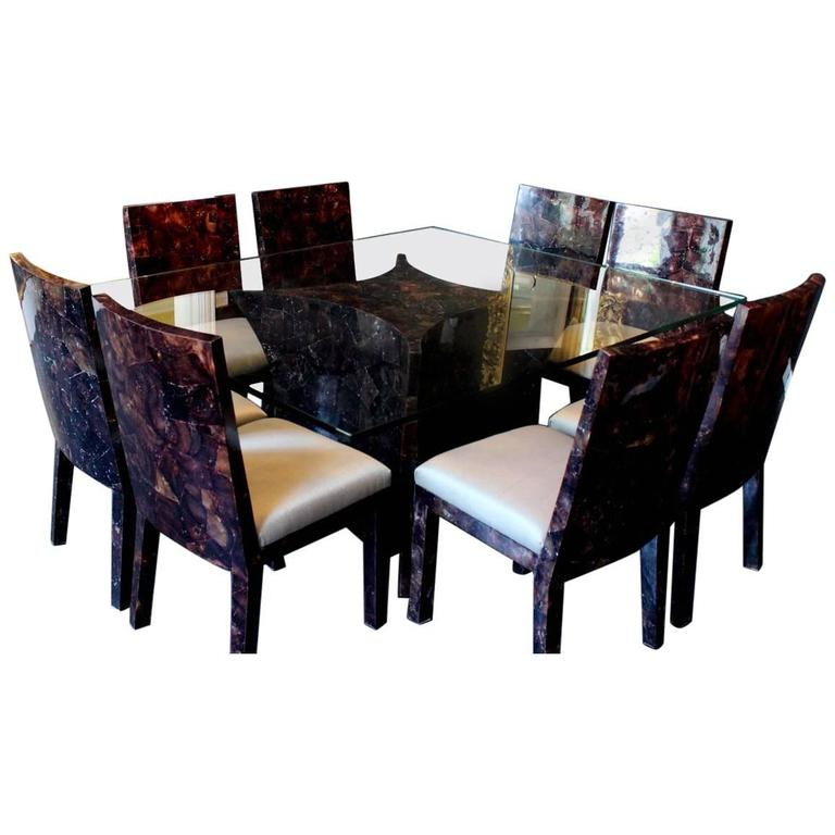 Dining Tables For Eight Intended For 2018 Resin Rectangular Dining Table And Eight Matching Chairsbudji (Gallery 11 of 20)