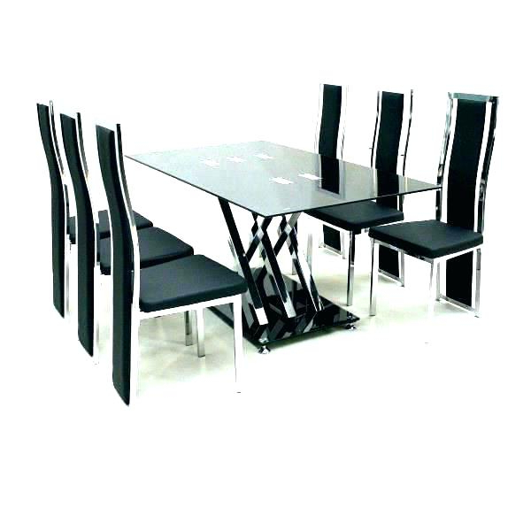 Dining Tables For Six Throughout Most Up To Date Six Seat Round Dining Table Round Glass Table Top Seating (View 12 of 20)