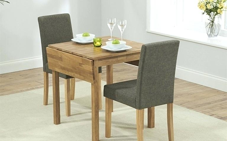 Dining Tables For Two Within Newest 2 Chair Dining Table Set – Eper (Gallery 3 of 20)