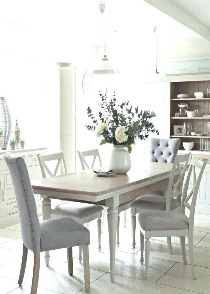 Dining Tables Grey Chairs Throughout Most Recent White And Grey Dining Table Set White Extending Dining Table With 4 (Gallery 15 of 20)