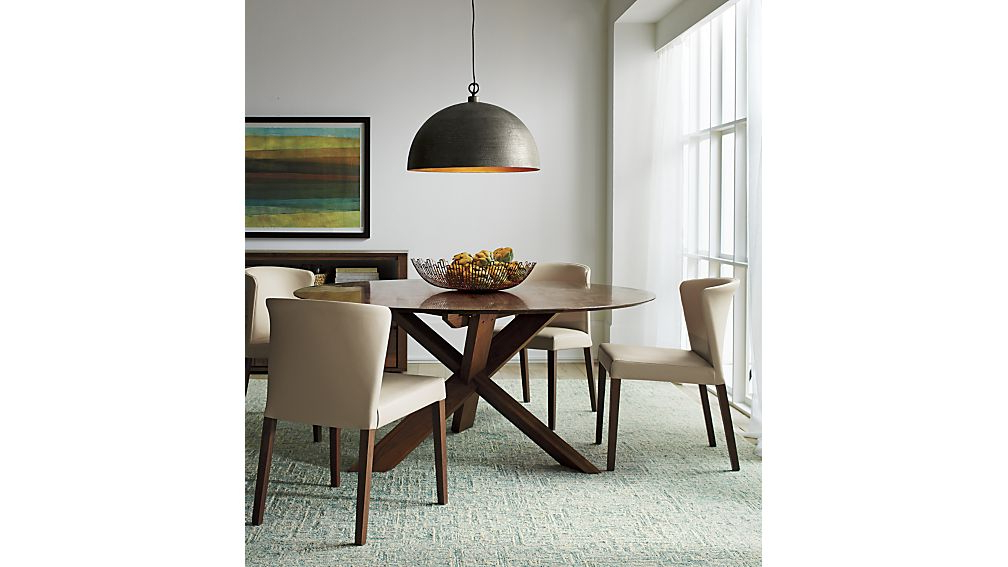 """Dining Tables Lighting In Latest Apex 64"""" Round Dining Table + Reviews (View 6 of 20)"""