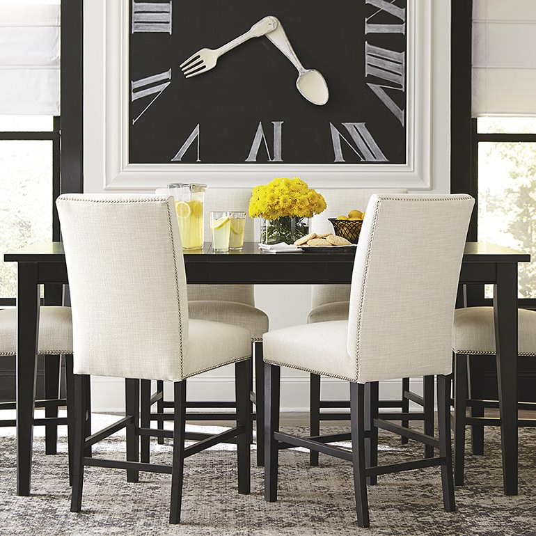 Dining Tables Lighting Inside Fashionable Custom Rectangular Table – Dining Room (View 7 of 20)
