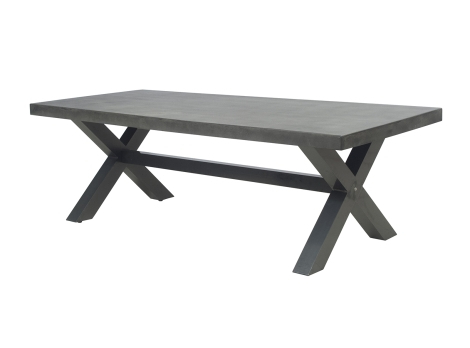 Dining Tables New York Pertaining To Famous New York Industrial 2.4M Dark Grey Outdoor Poly Cement Dining Table (Gallery 6 of 20)
