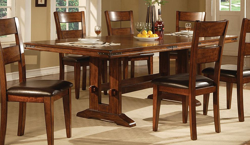 Dining Tables Regarding Solid Dark Wood Dining Tables (View 8 of 20)