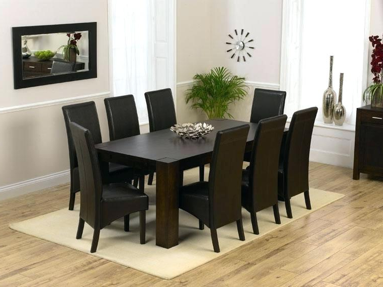 Dining Tables Set For 8 Intended For Trendy 8 Seat Dining Room Table Sets – Castrophotos (View 10 of 20)