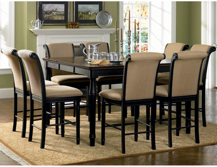 Dining Tables With 8 Chairs In Fashionable (View 4 of 20)