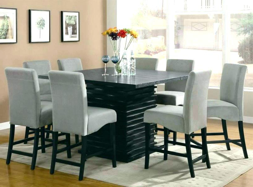 Dining Tables With 8 Chairs Regarding Most Recent Kitchen Table For 8 8 Person Kitchen Table 8 Person Square Wood (View 18 of 20)