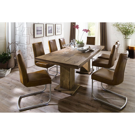 Dining Tables With 8 Seater With Regard To Popular Mancinni 8 Seater Dining Table In 180Cm With Flair Dining (View 11 of 20)