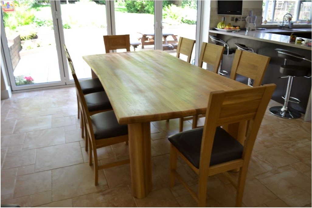 Dining Tables With 8 Seater Within Current Spectacular Wood Dining Table 8 Chairs Chunky Solid Oak 8 Seater (View 13 of 20)