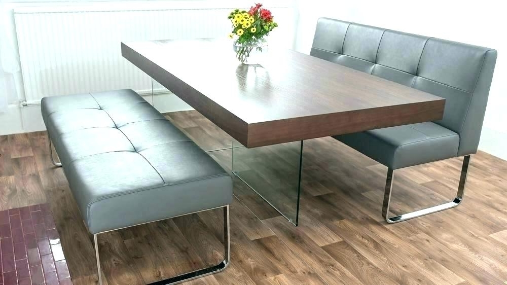 Dining Tables With Benches With Backs Farm Table Bench With Back For With Regard To Trendy Bench With Back For Dining Tables (View 8 of 20)