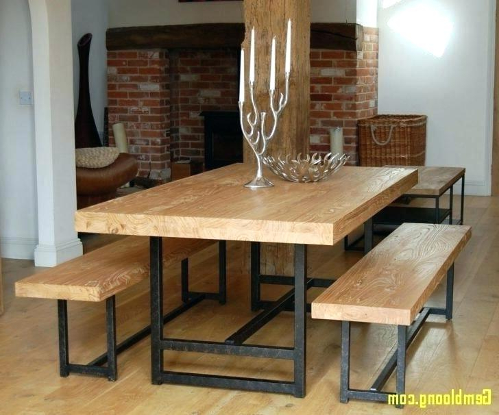 Dining Tables With Benches With Backs Kitchen Table Bench Seats Within Recent Dining Tables Bench Seat With Back (View 17 of 20)