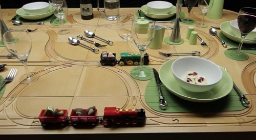 Dining Tables With Built In Toy Train Tracks – Designtaxi Regarding Famous Railway Dining Tables (View 8 of 20)