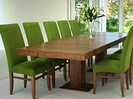 Dining Tables With Large Legs Intended For Famous Long Wood Dining Room Table Rustic Outdoor Wooden Tables With Bench (View 10 of 20)