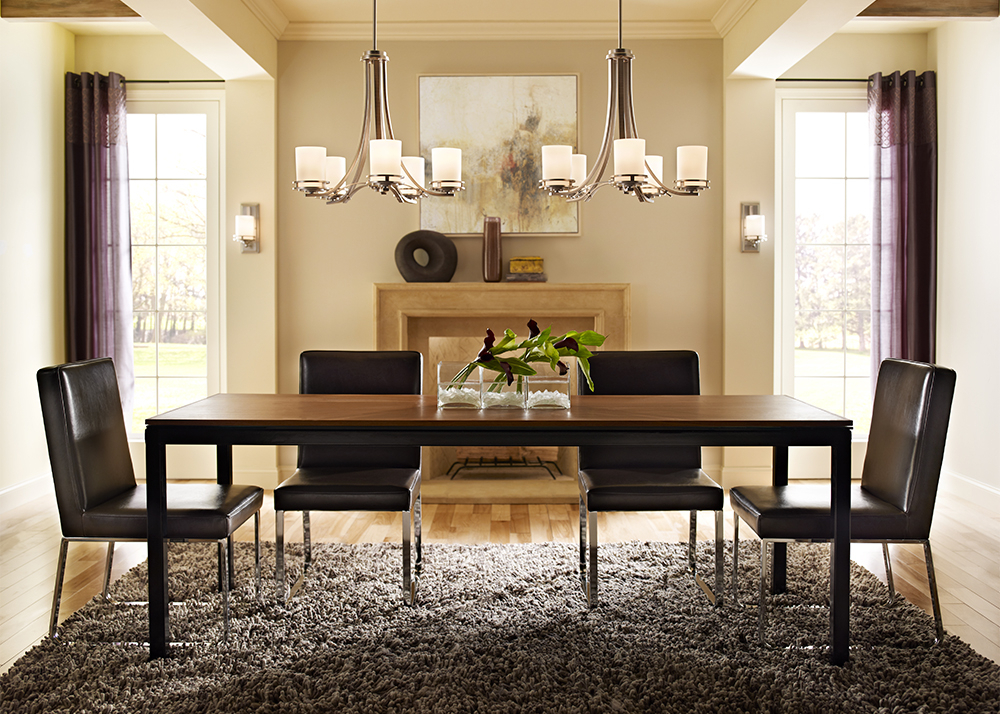 Dining Tables With Led Lights Intended For Most Current Dining Room Lighting Design Tips – Simple Minimalist Home Ideas • (View 8 of 20)