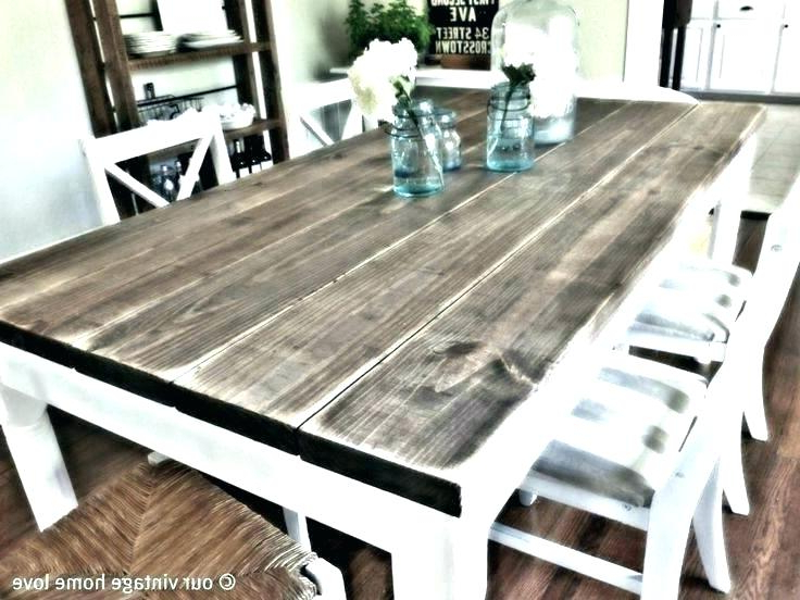 Dining Tables With White Legs And Wooden Top Intended For Well Known White And Wood Dining Table Dining Table White Legs Wooden Top (View 7 of 20)