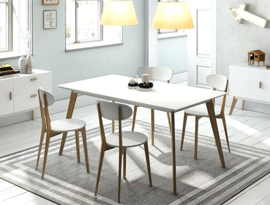 Dining Tables With White Legs Pertaining To Well Liked Dining Table White Legs Wooden Top – Dzrj (View 6 of 20)