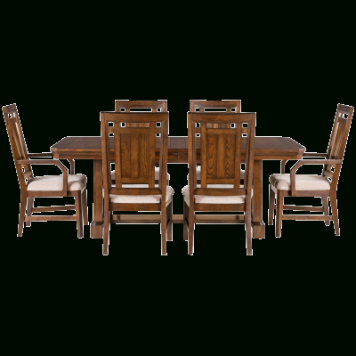 Dining With Regard To Craftsman 7 Piece Rectangular Extension Dining Sets With Arm & Uph Side Chairs (View 9 of 20)