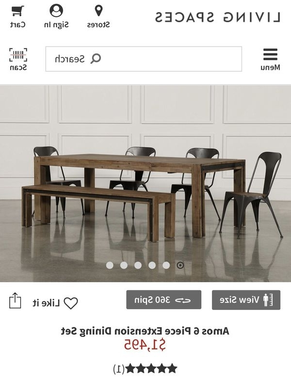 Dinning Table (furniture) In Phoenix, Az – Offerup Pertaining To Favorite Amos 6 Piece Extension Dining Sets (View 20 of 20)