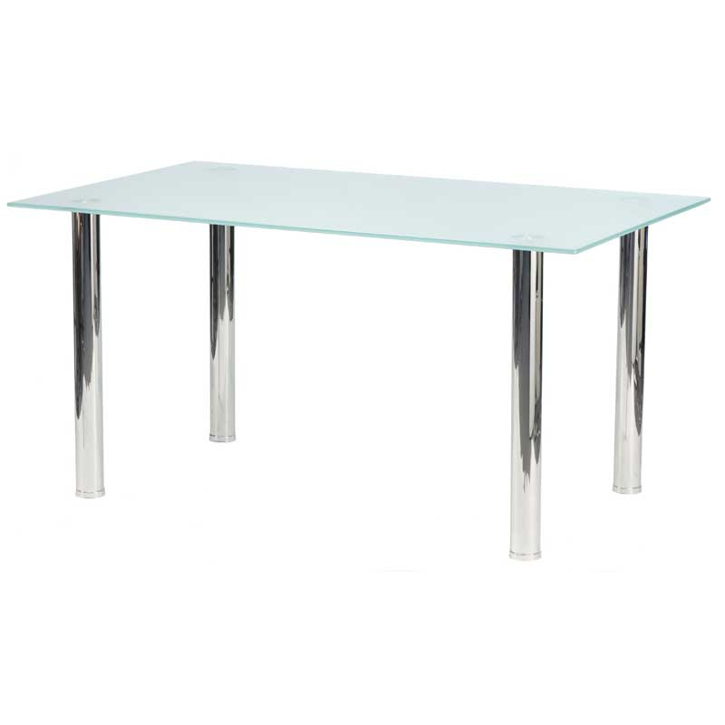 Dior 150x90cm 10mm Tempered Glass Top Dining Table • Decofurn Throughout Current Smoked Glass Dining Tables And Chairs (View 16 of 20)