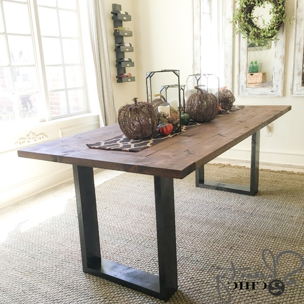 Diy Rustic Modern Dining Table – Shanty 2 Chic Regarding Well Known Cheap Contemporary Dining Tables (View 8 of 20)