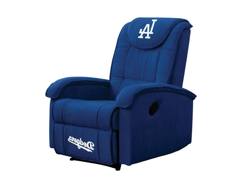 Dodger Side Chairs Pertaining To Famous Mlb Los Angeles Dodgers Reclinercoaster – 891Dodg (View 4 of 20)