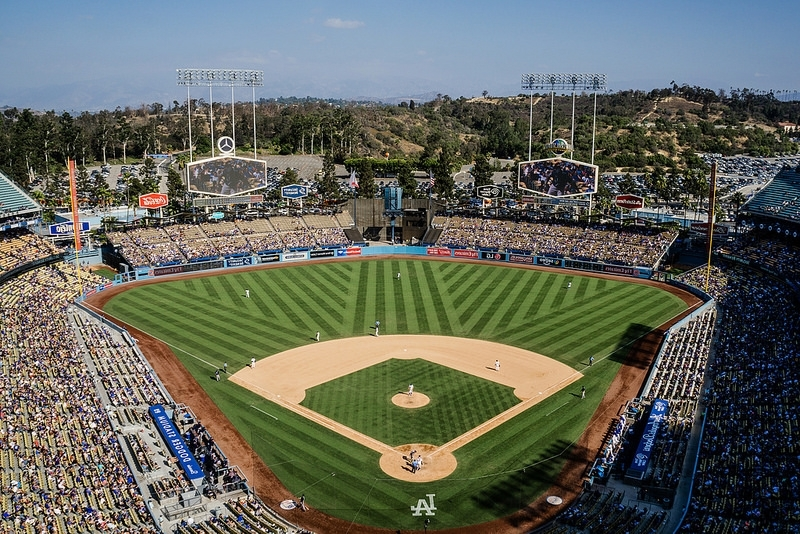 Dodger Stadium, Los Angeles Dodgers Ballpark – Ballparks Of Baseball In Most Up To Date Dodger Side Chairs (View 10 of 20)