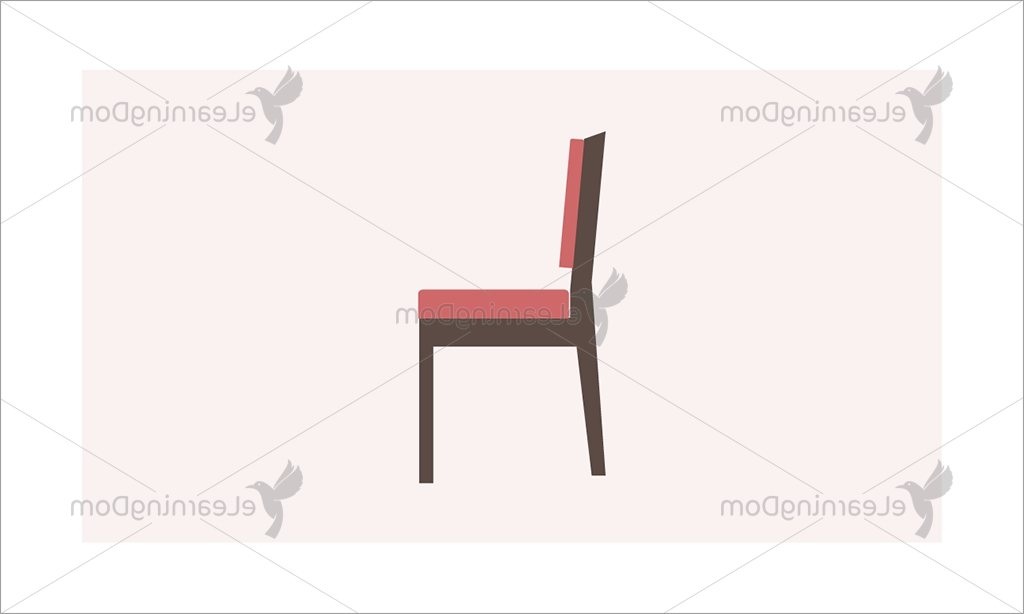 Dom Side Chairs For Trendy Wooden Cushioned Chair – Side View – Elearningdom (View 10 of 20)
