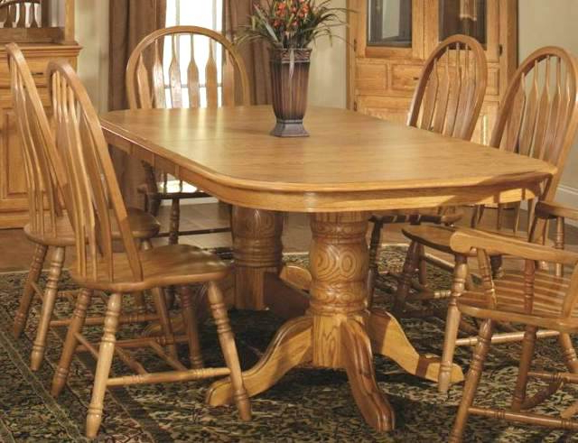 Double Pedestal Dining Table Double Pedestal Dining Table In Harvest Throughout Favorite Magnolia Home Double Pedestal Dining Tables (View 4 of 20)