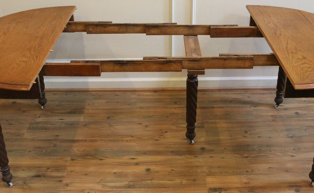 Drop Leaf Extendable Dining Tables In Newest Antique Dining Table, American Oak Round Drop Leaf Extending (View 4 of 20)